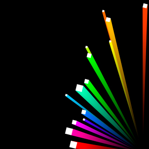 abstract background, vector, colorful 3d stripesのイラスト素材 [FYI03074738]