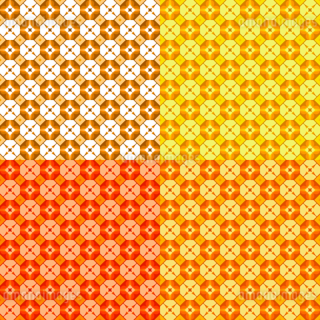 set of four seamless patterns, vector, geometric  ornamentのイラスト素材 [FYI03074765]