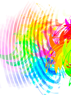 colorful abstract transparency shapes, vector, EPS 10のイラスト素材 [FYI03075234]