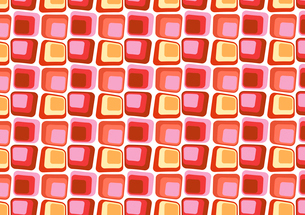 Vector illustraition of  Red Retro styled Abstract  background made of  Candy Squaresのイラスト素材 [FYI03075539]