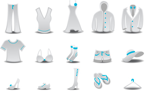 Vector illustration set of fashion  Clothing and Accessories Iconsのイラスト素材 [FYI03075542]