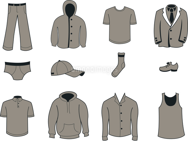 Vector illustration set of fashion  Clothing and Accessories Iconsのイラスト素材 [FYI03075548]