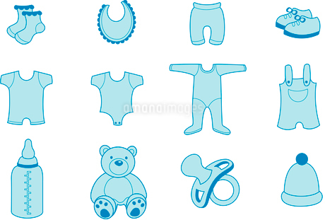 Vector illustration set of baby Clothing and Accessories Iconsのイラスト素材 [FYI03075551]