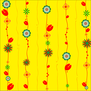 Vector Illustration of Decorative Wind Chimes with floral ornament designのイラスト素材 [FYI03075582]