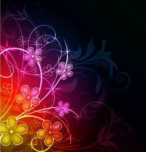 Abstract fantasy floral backgroundのイラスト素材 [FYI03076041]