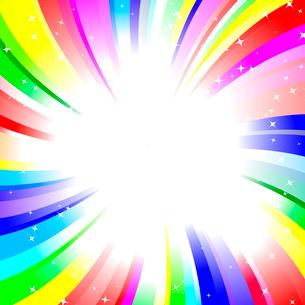 rainbow twirl backgroundのイラスト素材 [FYI03076137]