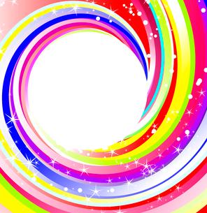 rainbow twirl backgroundのイラスト素材 [FYI03076140]