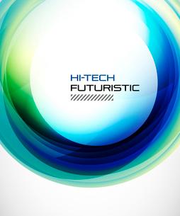 Abstract blue techno swirl backgroundのイラスト素材 [FYI03076207]