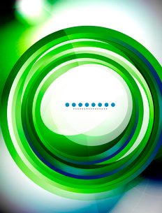 Abstract vector background made of colorful swirl shapesのイラスト素材 [FYI03076209]