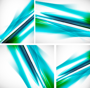 Vector collection of blue abstract backgrounds. Straight lines patternのイラスト素材 [FYI03076211]