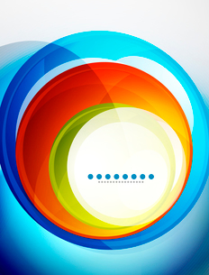 Abstract vector background made of colorful swirl shapesのイラスト素材 [FYI03076213]