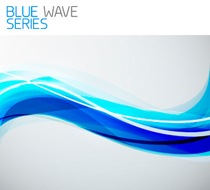 Blue abstract clean wave backgroundのイラスト素材 [FYI03076215]