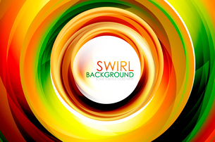 Hi-tech swirl abstract swirl shaped colorful backgroundのイラスト素材 [FYI03076256]