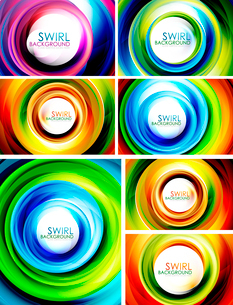 Hi-tech swirl abstract swirl shaped colorful background collectionのイラスト素材 [FYI03076262]