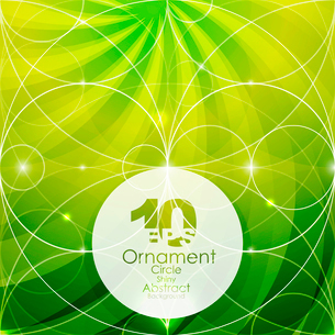 Shiny geometric ornamental abstract green backgroundのイラスト素材 [FYI03076290]