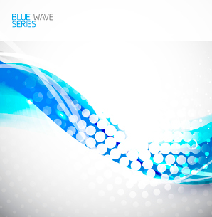 Blue abstract clean wave backgroundのイラスト素材 [FYI03076307]