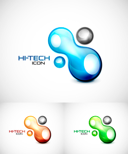 Vector abstract icon design. Splash styled symbolのイラスト素材 [FYI03076338]