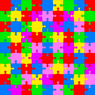 Background Vector Illustration jigsaw puzzleのイラスト素材 [FYI03076397]