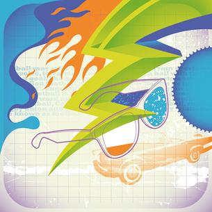 Artistic modish posterのイラスト素材 [FYI03076451]
