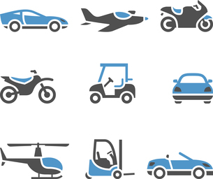 Transport Icons - A set of fourのイラスト素材 [FYI03076539]