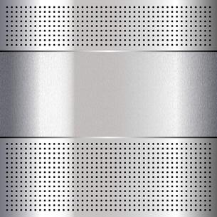 Metallic perforated chromium steel sheet, 10epsのイラスト素材 [FYI03076551]