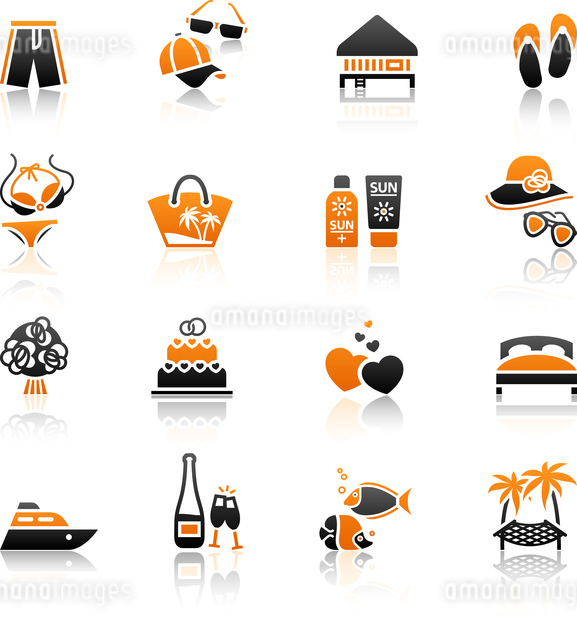 Vacation, Travel & Recreation, icons set.のイラスト素材 [FYI03076580]