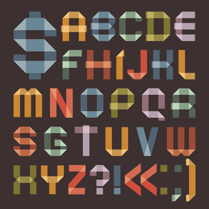 Font from colored scotch tape -  Roman alphabetのイラスト素材 [FYI03076612]