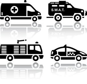 Set of transport icons - Rescueのイラスト素材 [FYI03076615]