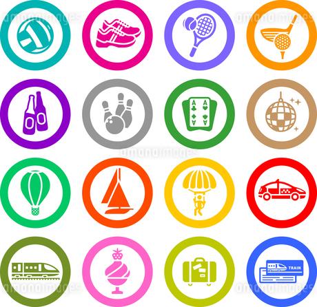Recreation, Vacation & Travel, icons setのイラスト素材 [FYI03076651]