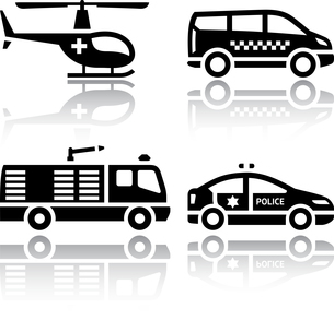 Set of transport icons - transport servicesのイラスト素材 [FYI03076655]