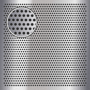 Chrome metal sheet surface with holes, 10epsのイラスト素材 [FYI03076676]