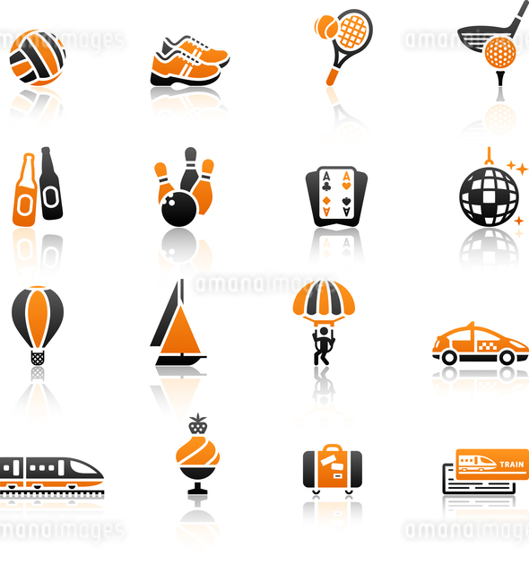 Recreation, Vacation & Travel, icons set.のイラスト素材 [FYI03076681]