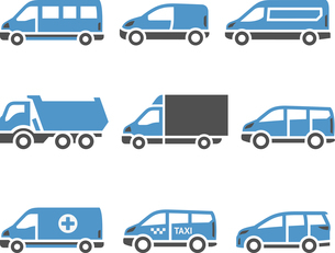 Transport Icons - A set of sixthのイラスト素材 [FYI03076693]