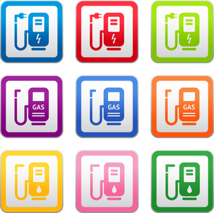 gas station sign, symbol, pictogram, colorのイラスト素材 [FYI03076697]