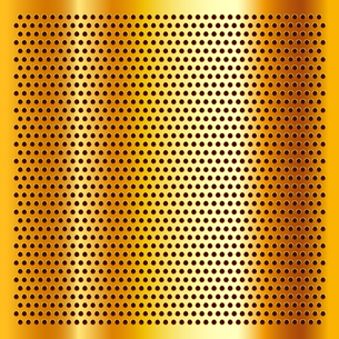 Golden perforated sheetのイラスト素材 [FYI03076699]
