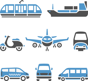 Transport Icons - A set of ninthのイラスト素材 [FYI03076703]