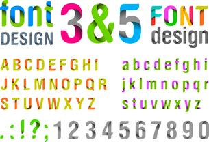 Font design. Ribbon Alphabet. Vector. Usage: for title, logo, identity etc.のイラスト素材 [FYI03076729]