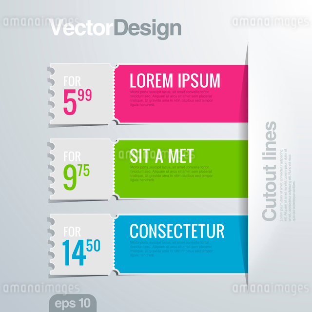 Infographics cutout lines design template. Vector high detail. Creative banner concept.のイラスト素材 [FYI03076736]