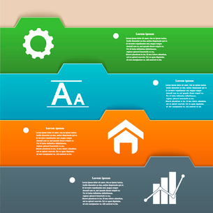 Infographics design of colorful stripes. Vector illustration for your websiteのイラスト素材 [FYI03076770]