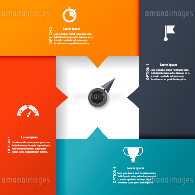 Layout for your options. Abstract template for info background. Vector illustrationのイラスト素材 [FYI03076813]