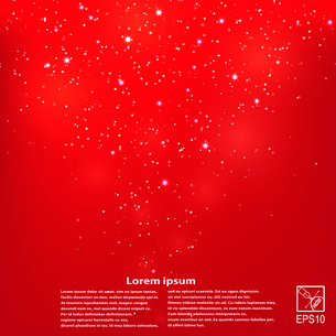 Abstract red background with starsのイラスト素材 [FYI03076831]