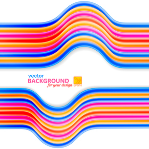 Bright abstract background with frame of wires. Vector illustrationのイラスト素材 [FYI03076843]