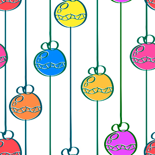 Bright seamless pattern with a garland in a simple style. Christmas. Vector illustration.のイラスト素材 [FYI03076897]