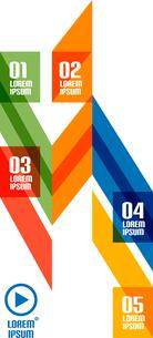 Abstract stripes minimal infographicsのイラスト素材 [FYI03076956]
