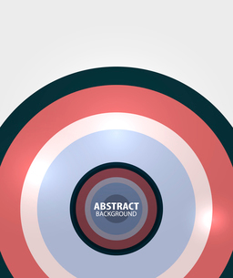 Modern circles minimal abstract backgroundのイラスト素材 [FYI03076991]