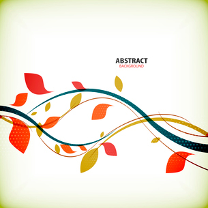 Minimal autumn floral abstract backgroundのイラスト素材 [FYI03077038]