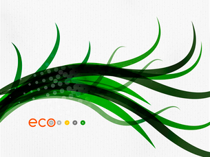 Green eco nature minimal floral concept | flying leaves | nature flying leaves templateのイラスト素材 [FYI03077044]