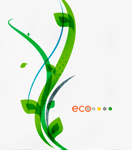 Green eco nature minimal floral concept | flying leaves | nature flying leaves templateのイラスト素材 [FYI03077045]