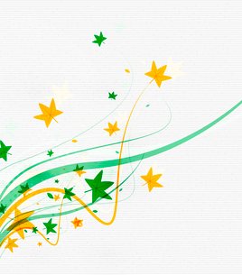 Green eco nature minimal floral concept | flying leaves | nature flying leaves templateのイラスト素材 [FYI03077048]