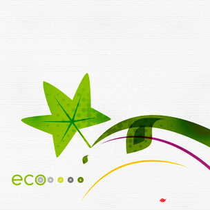 Green eco nature minimal floral concept | flying leaves | nature flying leaves templateのイラスト素材 [FYI03077053]